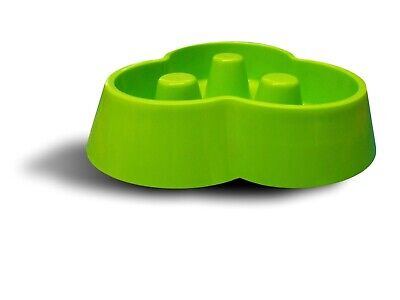 Plastic Pet Anti-gulp Pet Dog Puppy Bowl Green