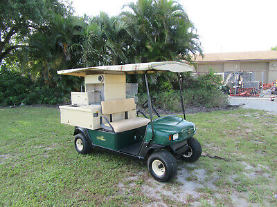 Ez Go Ef 1200 Refresher Custom Beverage Vending Type Food Golf Cart Gas Engine