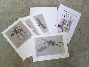 Carpeta-con-4-laminas-tipo-litografia-VEH-CULOS-034-STAR-WARS-034-Autor-M-Alfaro