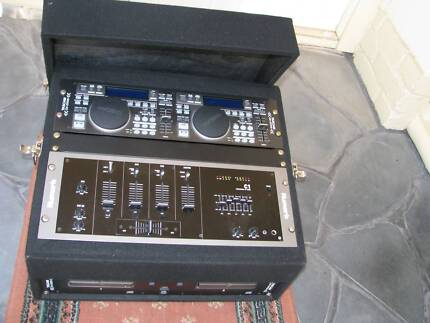 DJ SET UP MIXER, DUAL CD, AMP, SPEAKERS, SPEAKER STANDS, CORDS Enfield Port Adelaide Area Preview