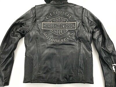 NWT HARLEY DAVIDSON REFLECTIVE ROAD WARRIOR 3 IN 1 LEATHER JACKET S 98138-09VM