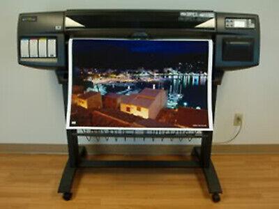 Hp Designjet 1055cm 36 Wide Large Format Cad Inkjet Printer Plotter