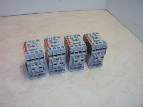 Lot of (4) Sprecher + Schuh CA7-12-10 3 Pole Contactor 12A 120V Coil