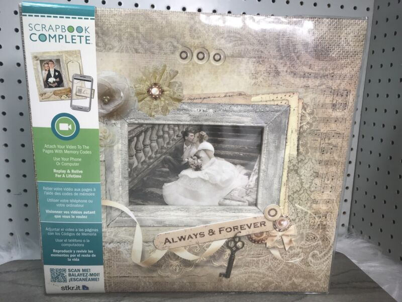 Wedding Scrapbook Complete Designed 10 Pages 12 x 12 Stickers Tapestry Album