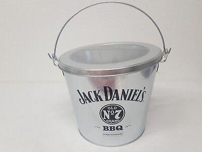 Jack Daniels Metal Bucket Lid Handle Old No. 7 BBQ Collectible Party Bucket