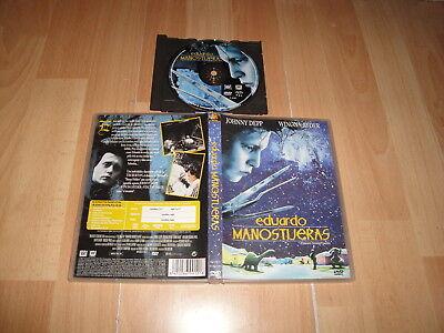 EDUARDO MANOSTIJERAS EN DVD DEL DIRECTOR TIM BURTON EN BUEN ESTADO
