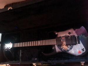 DBZ guitar with Floyd rose bridge & hard case