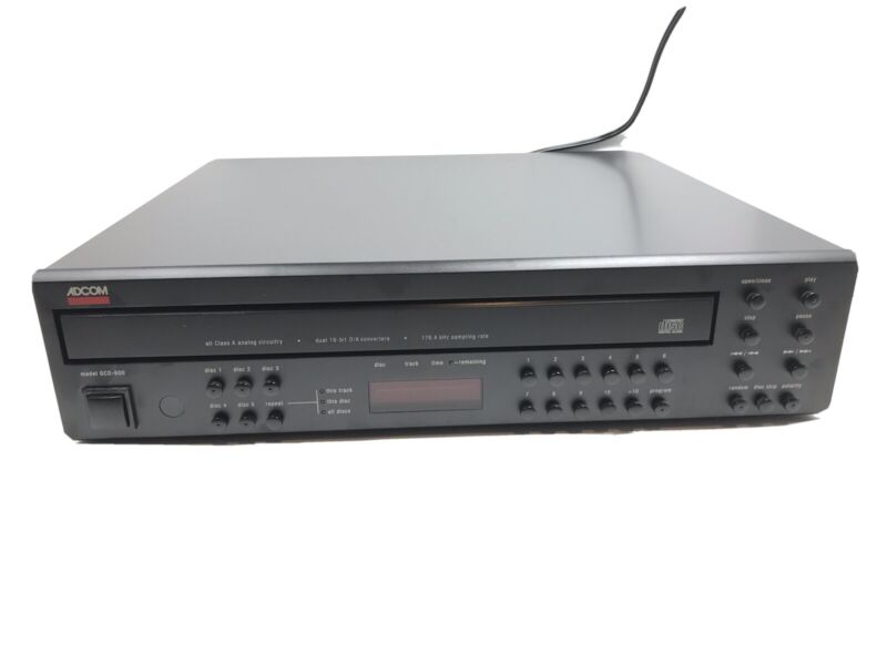 ADCOM GCD-600 5 Disc CD Changer Tested And Working