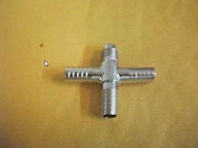 Soda Beer System Stainless Cross W Flare Fitting 14 Mf X 3 38 Barb