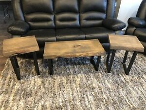 Live Edge Table Set