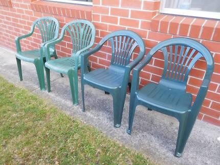 Iron / wood garden chairs   Outdoor Dining Furniture   Gumtree ...