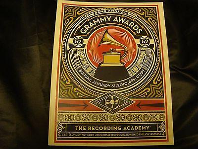 52nd Annual Grammy Awards Official Program 2010 Taylor Swift BlackEyed Peas GAGA