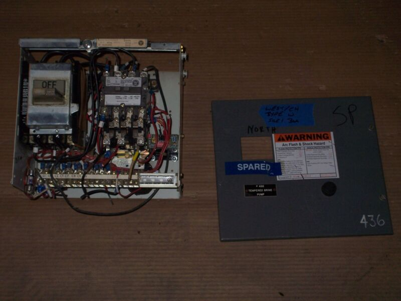 WESTINGHOUSE CUTLER HAMMER TYPE W SIZE 1 STARTER 30 AMP BREAKER MCC MCCB BUCKET