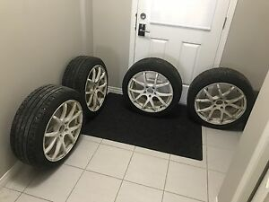 225 45 R18 - 5x120-Enkei Rims, tires and tpms included.Balanced