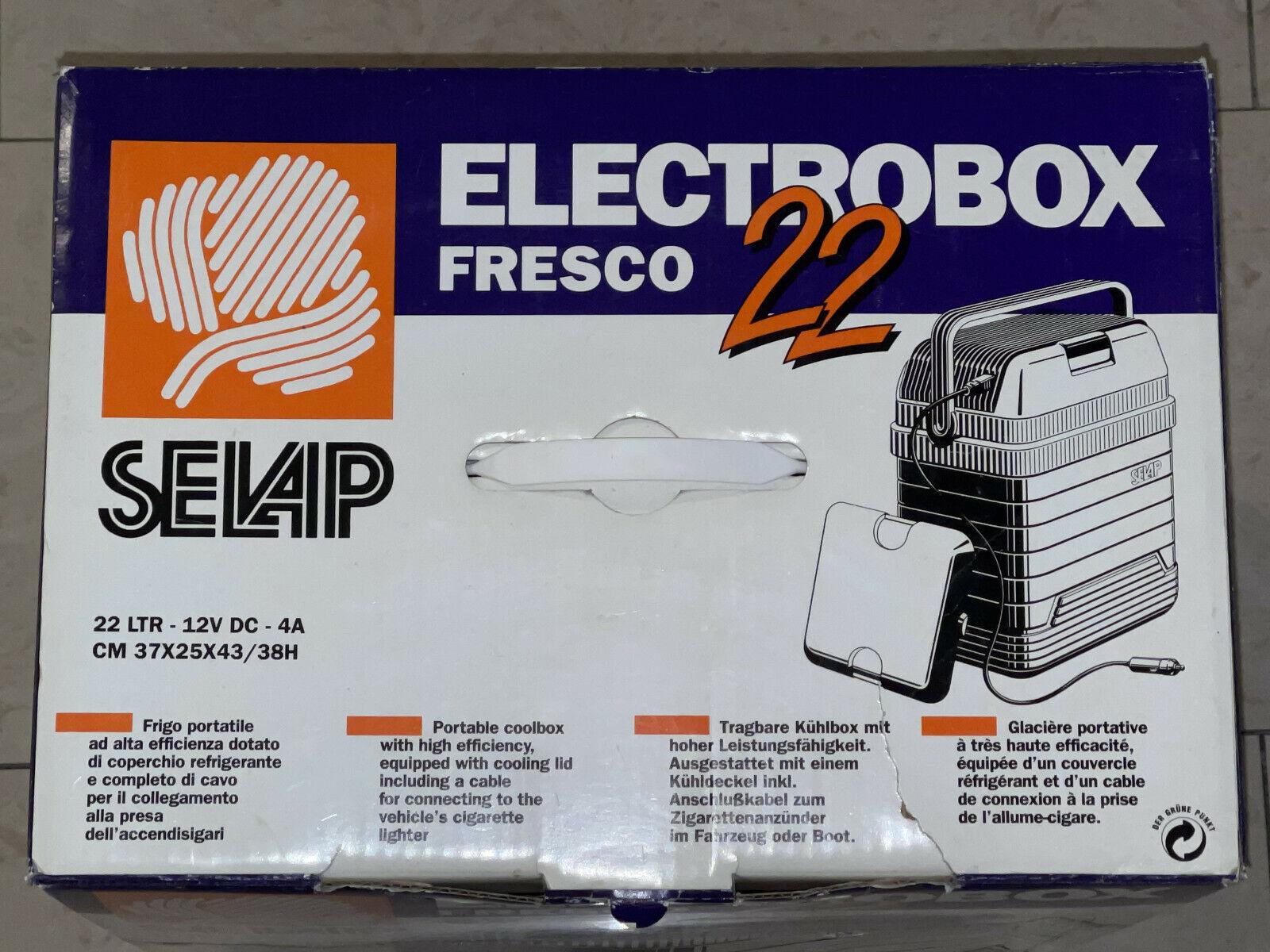 Elektrokühlbox 22 L Thermo Elektrische Kühlbox für Auto und Camping + 8 Akkus