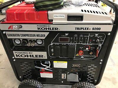 6500 Watt Generatorair Compressorwelder Amp Kohler Triplex 9200