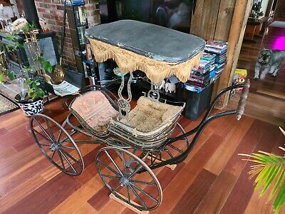 Antique Victorian Baby Carriage (~1880). Buggy Carriage.
