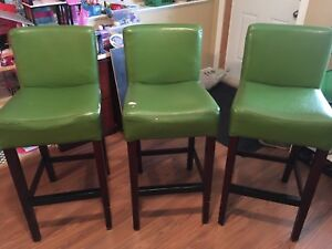 Green pleather bar stools REDUCED!!! $20 each