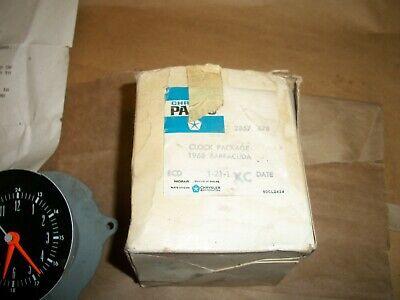 NOS 1968 Barracuda Dash Clock Package 2857678 MOPAR CHRYSLER PLYMOUTH