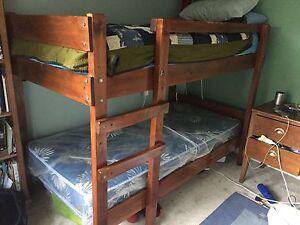 Wooden bunk bed Mount Waverley Monash Area Preview