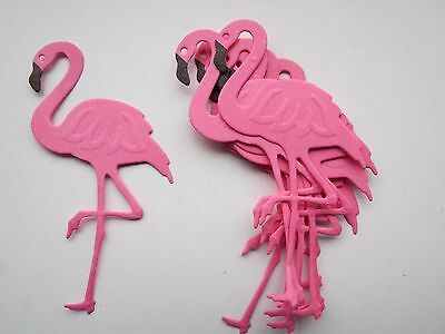 For sale, 10 die cut and embossed flamingo's
