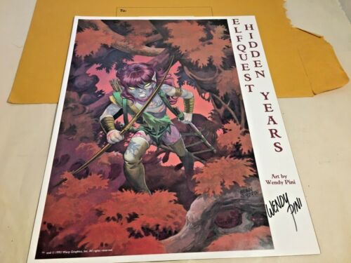"""Elfquest Hidden Years 14""""x11"""" Poster Art Signed by Wendy Pini 1993"""
