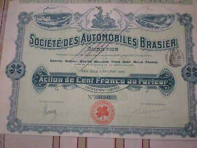 Frankreich -  Soc. des Automobiles Brasier    3/105