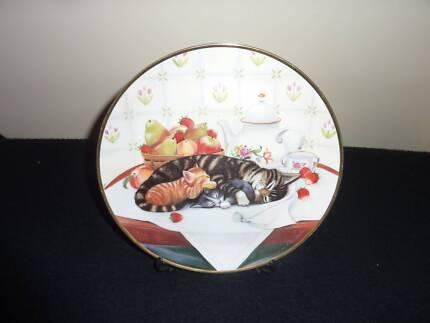 "Franklin Mint Plate ""Cat Nap"""