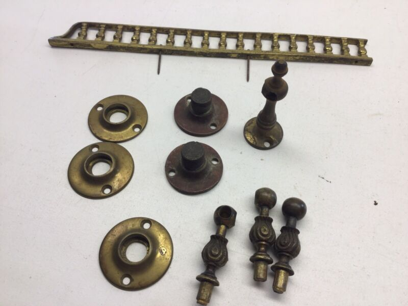 Antique Brass Gallery Hardware Assorted Lot