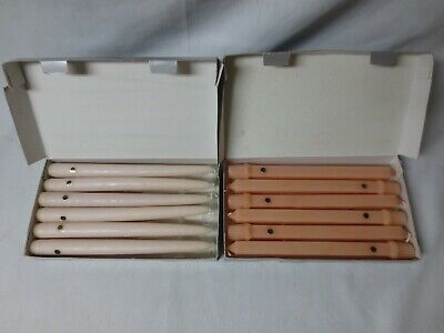 """Partylite NIB Pink & Peach Taper Dinner Wax Candles (12) Unscented 10"""" Tall."""
