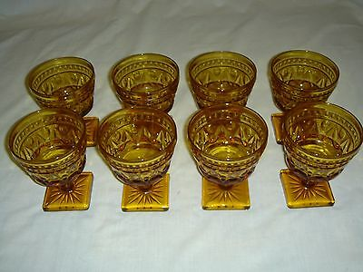 Indiana Amber Glass - Cordial / Dessert Goblets - Park Lane Colony (Set of 8)