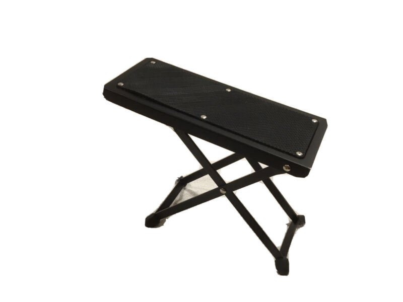 Adjustable Guitar Foot Rest Stand Black Sturdy Metal Classical