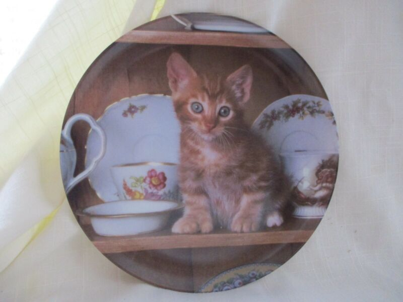 """""""Picture Purrfect"""" Set of 8 Hand-numbered Collector Cat Plates."""