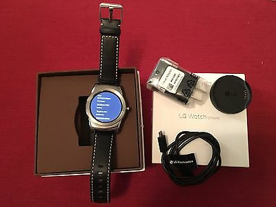LG G Watch Urbane W150 Smartwatch Android Wear Watch Silver/Black Band/With BOX