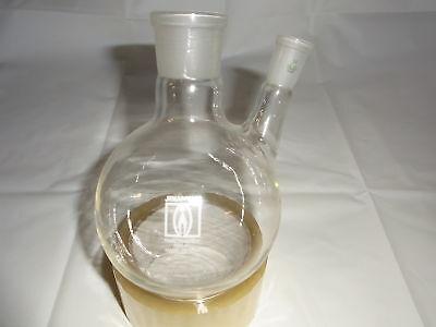 Zweihalskolben 1000 ml Destille  NEU Laborglas Laboreinrichtung Laborzubehör