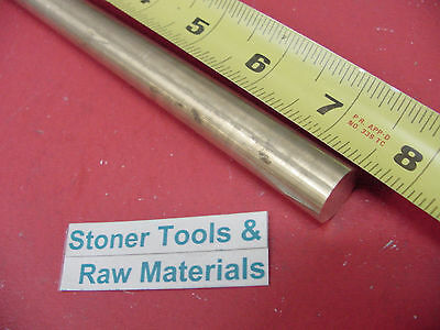 58 C360 Brass Solid Round Rod 7-12 Long H02 Lathe Bar Stock 12 Hard