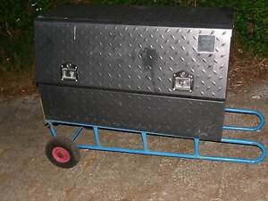 Steel checker plat steel lockabe toolbox for ute with 2 keys Londonderry Penrith Area Preview
