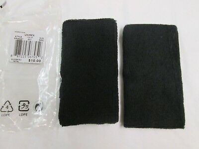 New Nike  Black Double Wide Dri- Fit Wristbands  2 Pack  PAC #027
