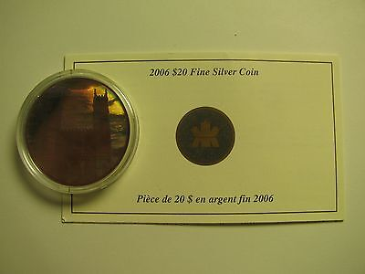 2006 PROOF $20 ARCHITECTURAL 1 NOTRE DAME BASILICA COIN&COA ONLY CANADA .9999 S