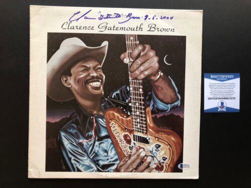 "Clarence Gatemouth Brown signed blues ""Blackjack"" album cover Beckett  BAS cert"