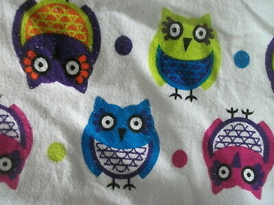 Flannel Sheet Set Queen - Owls Fun Retro - Everyday Living - (Retro Sheet Set)