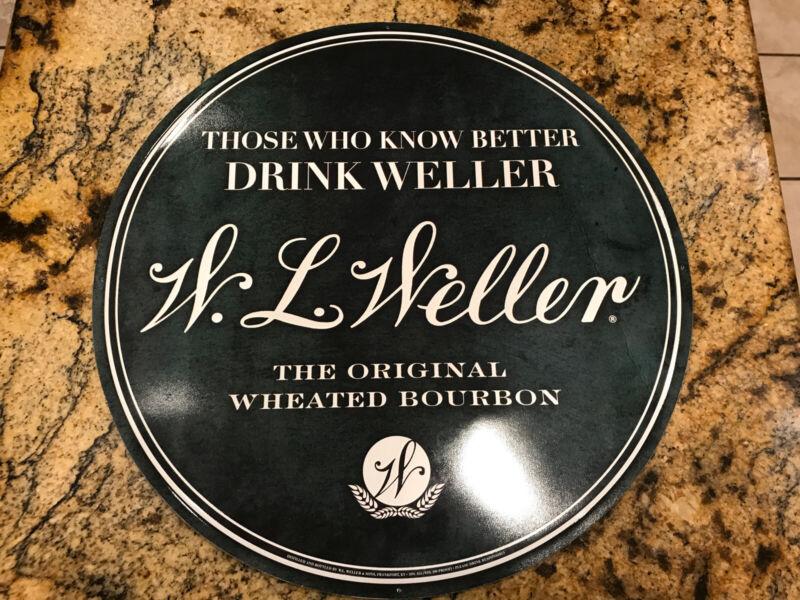 W L WELLER Bourbon Whiskey Pub Bar Tin Metal Tacker Wall Sign From Buffalo Trace