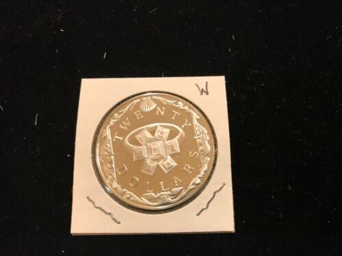 1985 Treasure Coins Of The Caribbean -- $20 British Virgin Islands  lot W