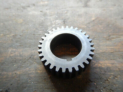 Vintage Logan 10 Metal Lathe Headstock Shaft Gear