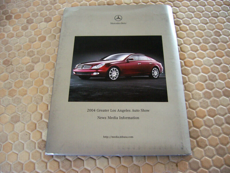 MERCEDES BENZ OFFICIAL FULL PRESS RELEASE KIT 2004 USA EDITION