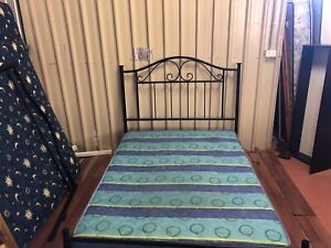 Double bed with mattress delivery available