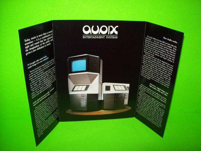 VIDEO MUSIC By AUDIX 1980s ORIGINAL JUKEBOX PHONOGRAPH MUSIC VIDEOS SALES FLYER