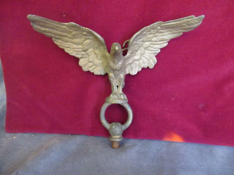 Antique Cast Brass Eagle Flag Topper Finial ks615