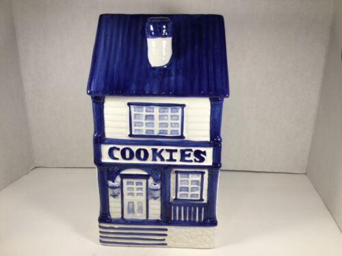 "11""  HOUSE COOKIE JAR Delft BLUE B21"