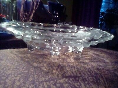 Antique pressed glass flowers and leaves CANDY DISH w/legs](Flowers And Candy)